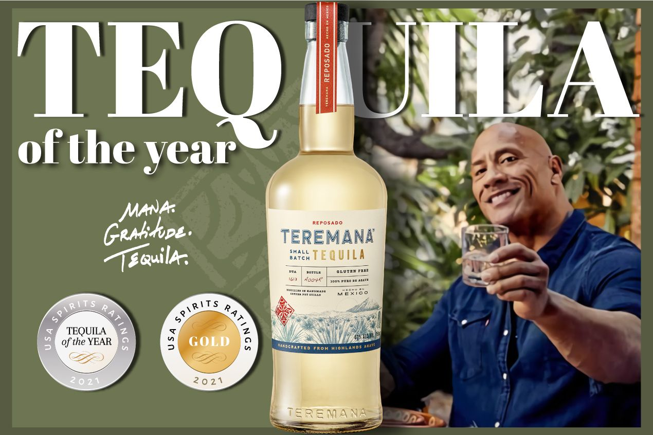 Photo for: The Rock's Teremana Reposado is Tequila of the Year